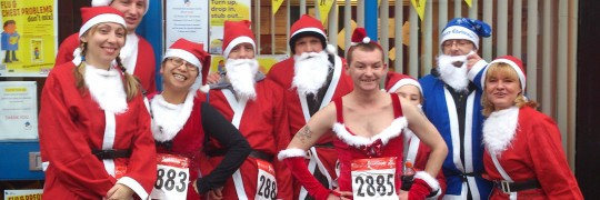 The Basement Santa Dash Team 2012